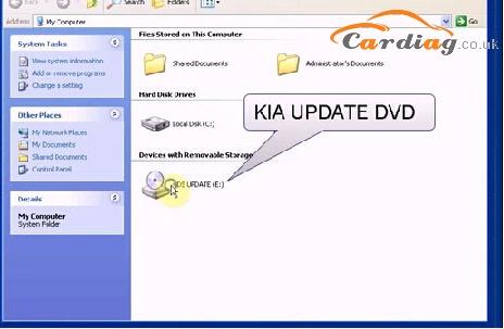 Install KIA UPDATE DVD