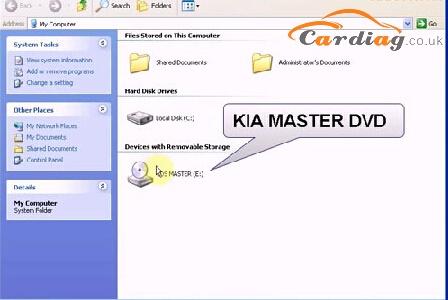 Open KIA MASTER DVD software
