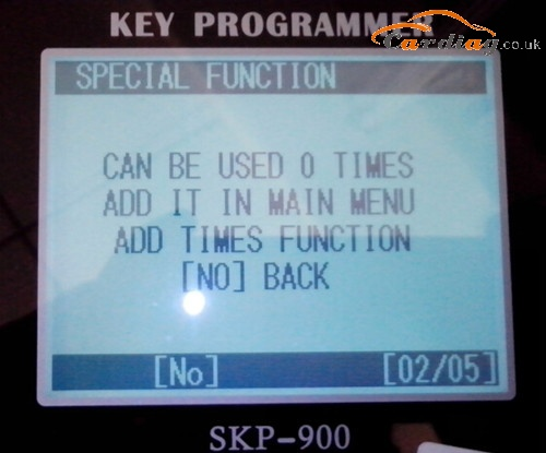 skp900 can be used 0 times error