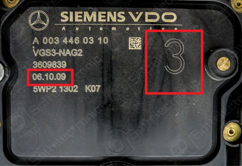 Benz ECU renew cable procedure for ME9 7, ISM and 722 9 ETC