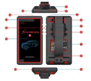 x431 pro mini handset