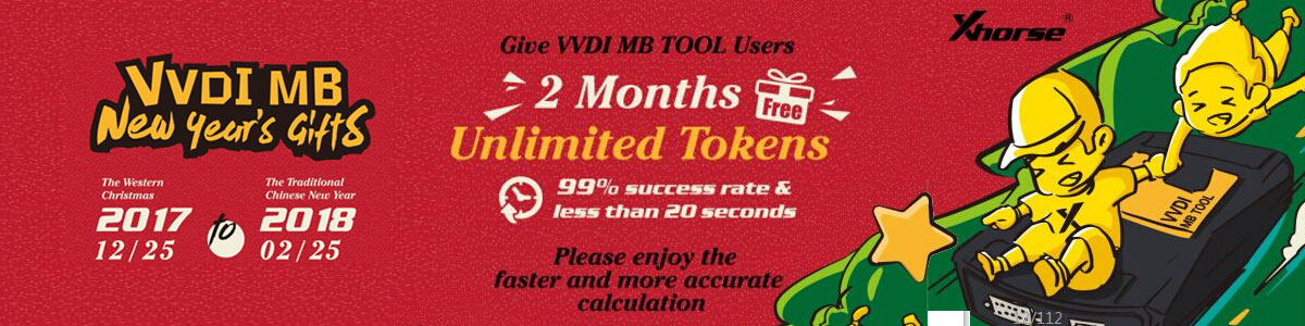 xhorse vvdi mb bga tool free tokens for two months