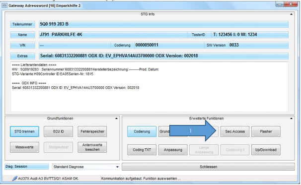 Audi A3 MQB coding with VCP software: Done!