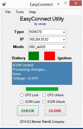 Step to setup E-sys to use with ICOM Next