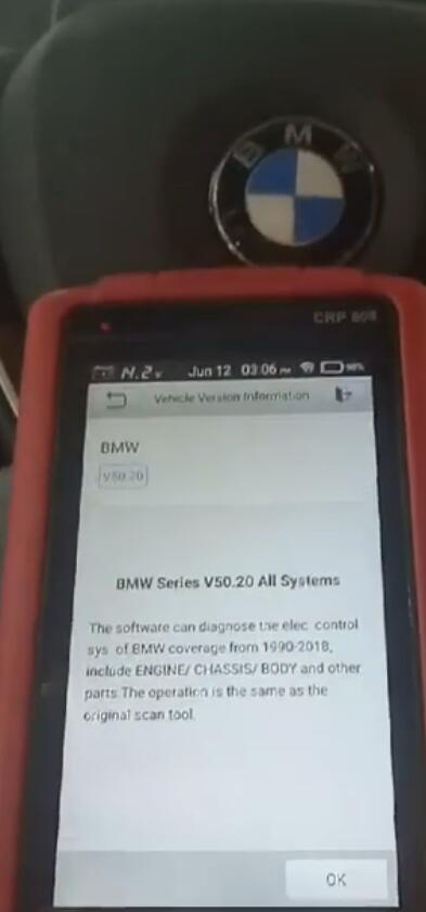 How to read BMW 2015 fault code by Launch CRP808