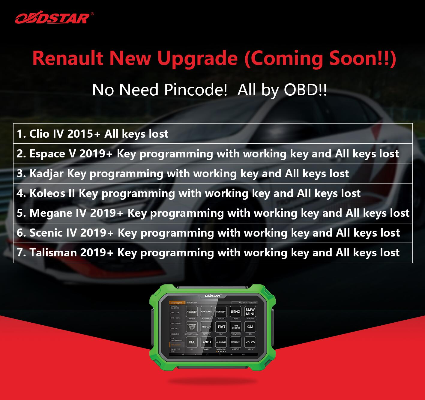 obdstar renault new update