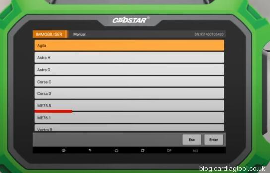 obdstar-x300-pad2-read-pincode-opel-9